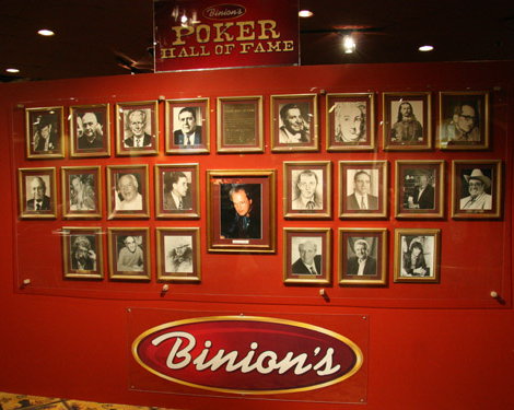 Poker Hall of Fame wall