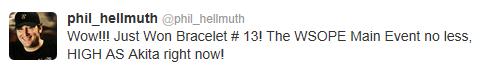 Hellmuth's VictoryTweet