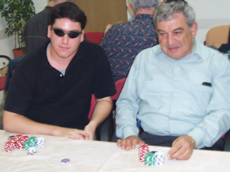 Me and Dad at my first charity poker tournament