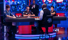 Shaun dealing at 2012 WSOP Main Event final table
