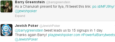 Barry Greenstein Tweet