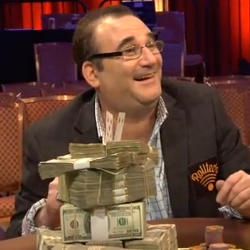 Matusow with his winnings