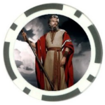 Moses poker chip