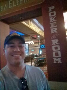 Robbie at the Showboat poker room
