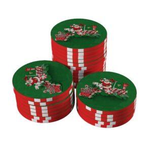 santa poker chips