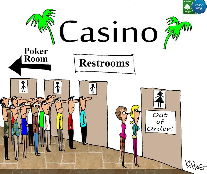 women in poker cartoon