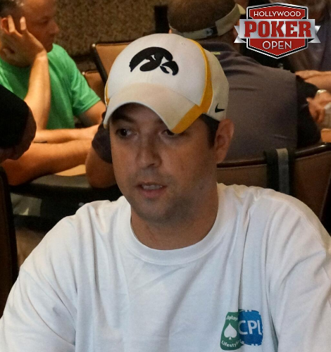 Jon Sofen at the Hollywood Poker Open Media Event