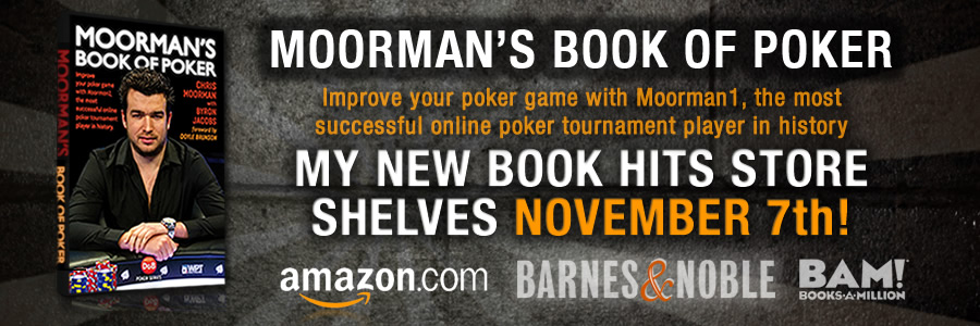 Moorman's Book of Poker announcement