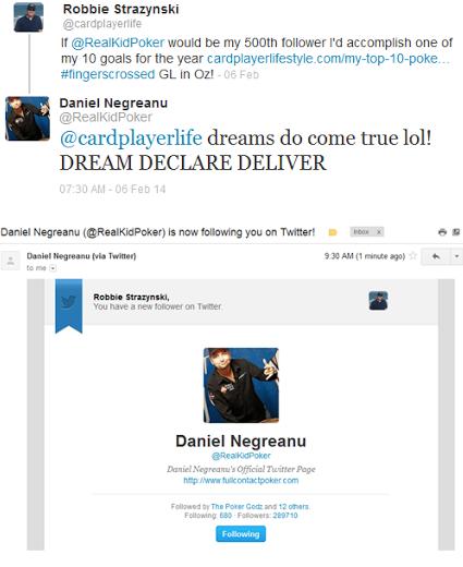Daniel Negreanu Twitter follow