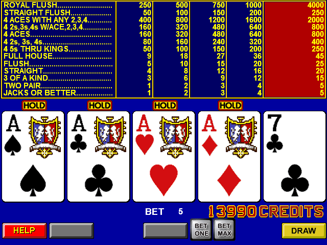 casino listings free video poker