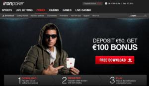 Iron Poker welcome bonus