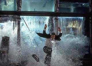 aquarium shattered