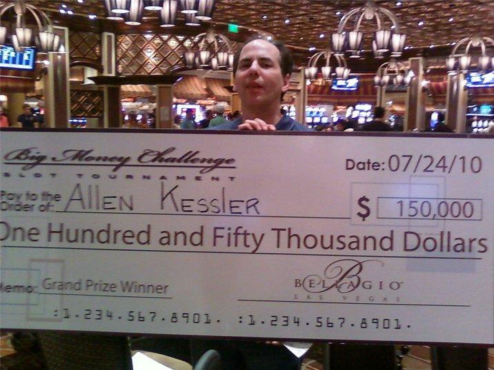 Allen Kessler slots win