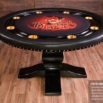 pedestal poker table