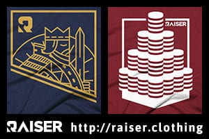 Poker T-shirts by Raiser Clothing