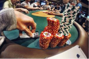 Andrew Neeme at poker table