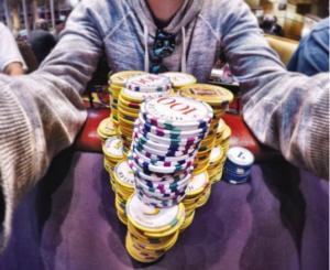 Andrew Neeme playing poker