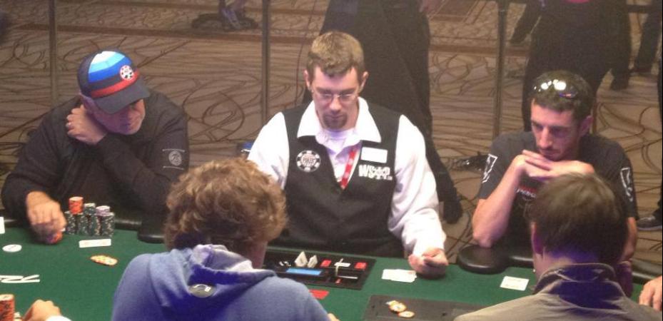 Ryan Sackett dealing