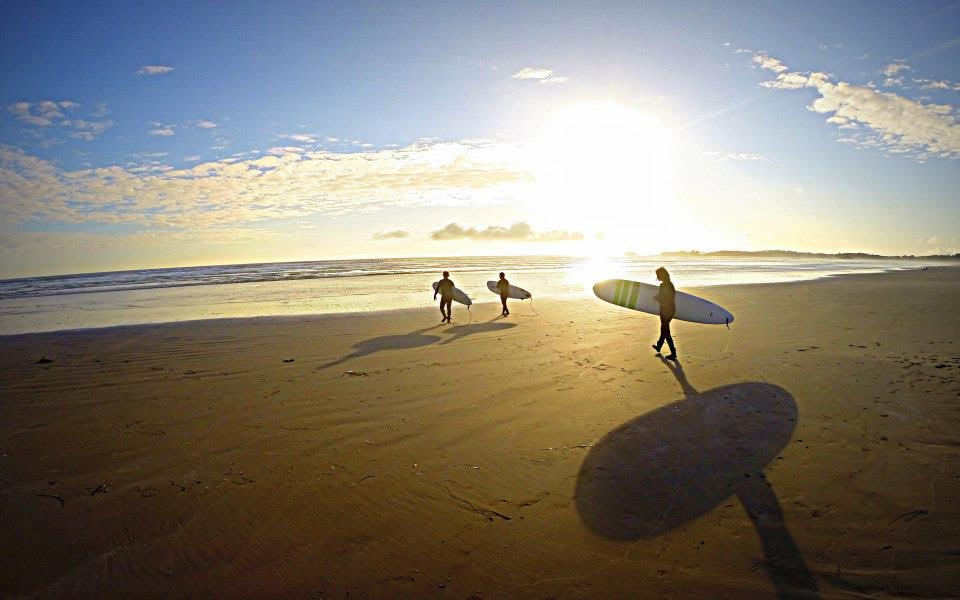 Arthur Crowson surfing