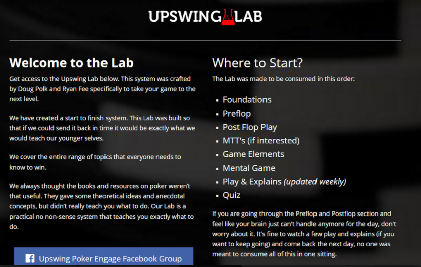 Upswing Poker Lab