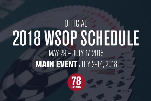 wsop event schedule