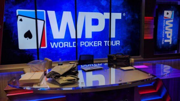 PokerGO studio break desk