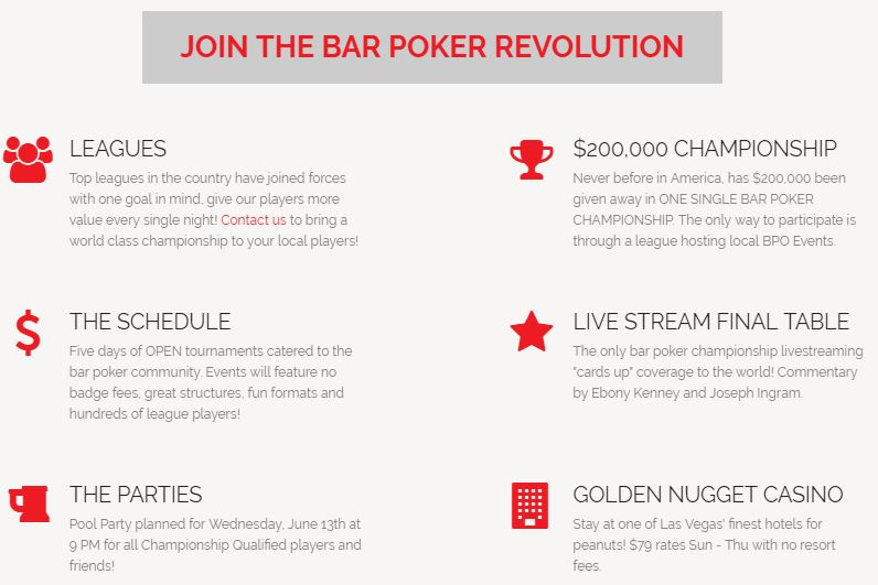 2018 Bar Poker Open National Championship