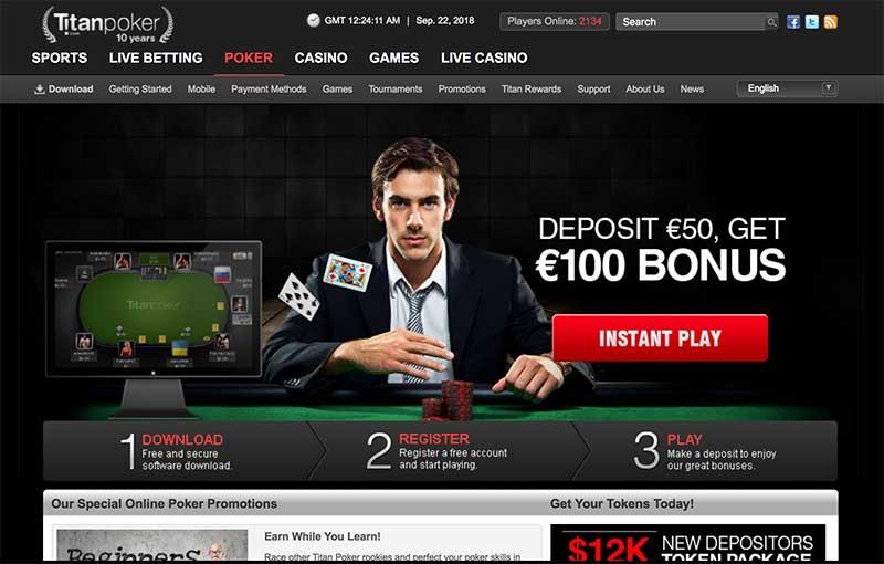 Titan Poker screenshot