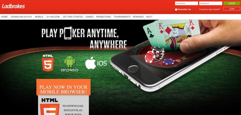 Ladbrokes poker mobile apps
