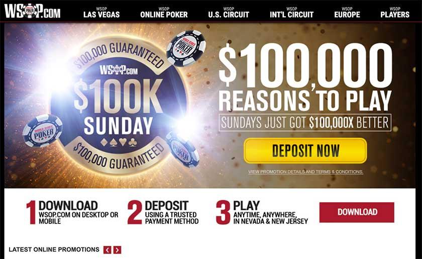 WSOP online poker screenshot