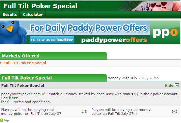 Place your bets at Paddy