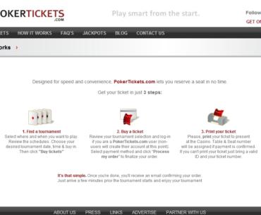 PokerTickets Website