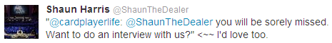 Shaun the Dealer Tweet