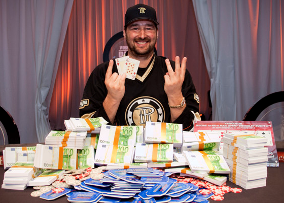 Hellmuth's 13th bracelet win