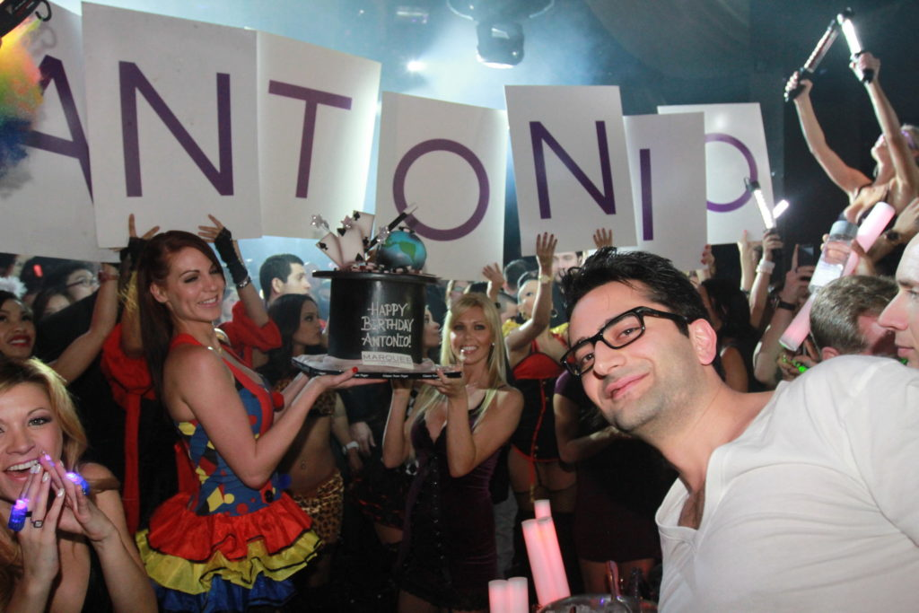 Antonio Esfandiari's 34th birthday celebration