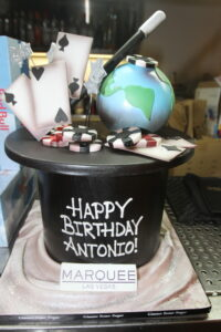Antonio's poker-themed birthday cake