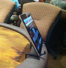 Tablet at the poker table