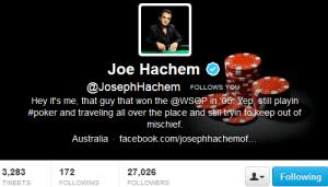 Joe Hachem Twitter