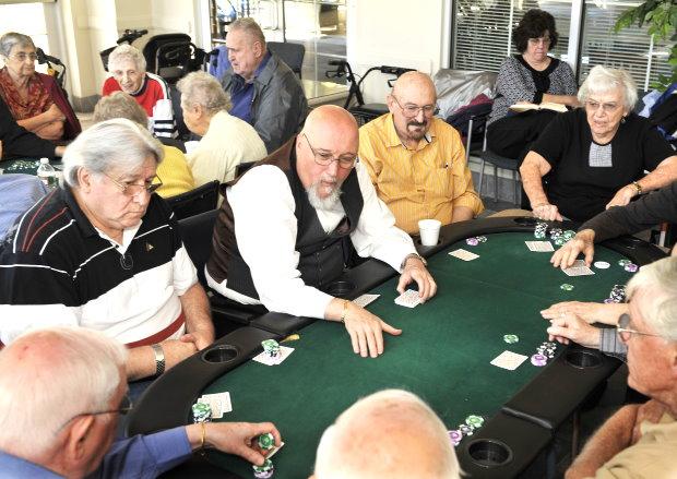 seniors poker