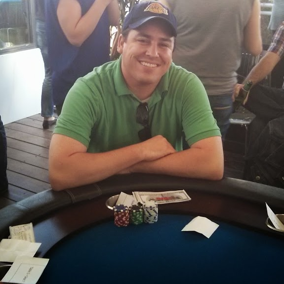 Robbie playing live poker at Titan Poker