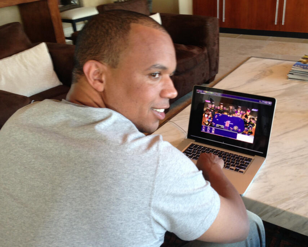 Phil playing online at Ivey Poker