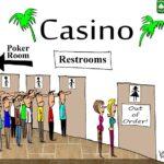 women in poker cartoon