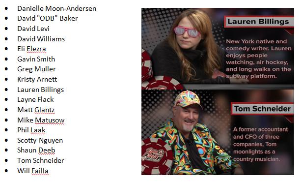Poker Night in America player list