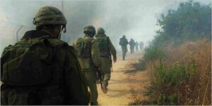 IDF soldiers marching