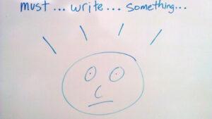 must write something