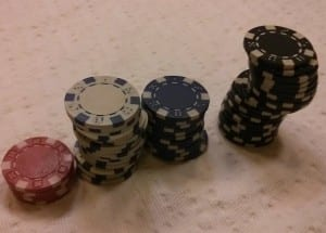 record high stack of poker chips