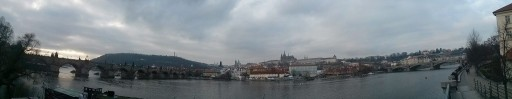 Panorama view of Central Prague