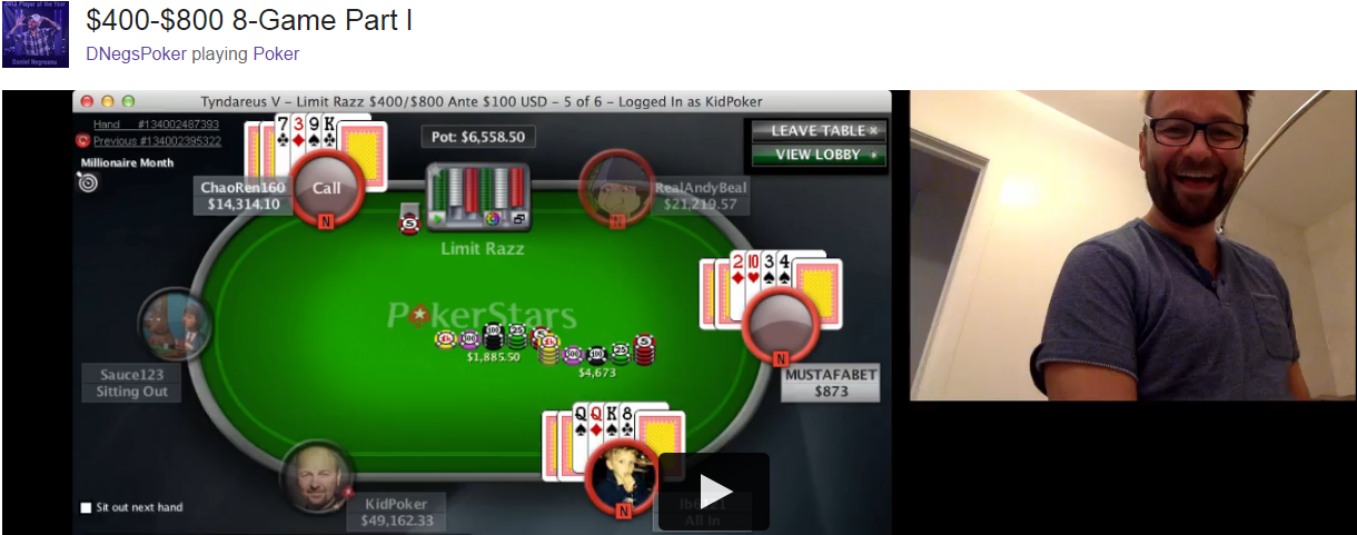 Daniel Negreanu peeing during Twitch stream