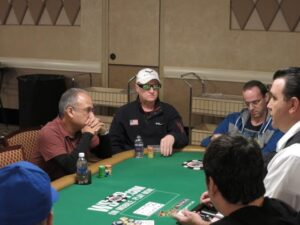 Steve playing in the WSOP Main Event