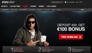 Iron Poker welcome bonus